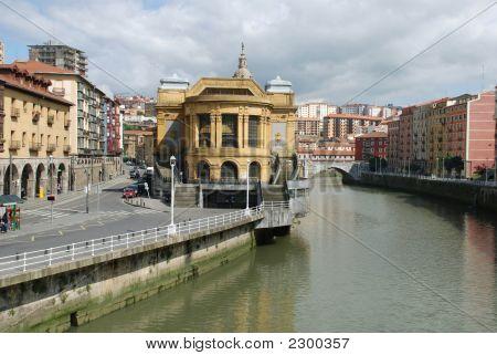 View Of Famous Indoor Market Of Bilbao, Spain