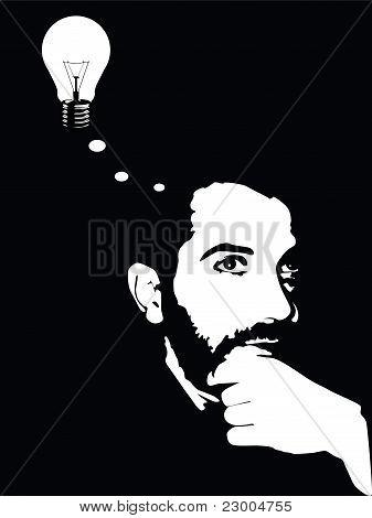 Hombre de la idea