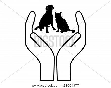símbolo del cuidado de las mascotas