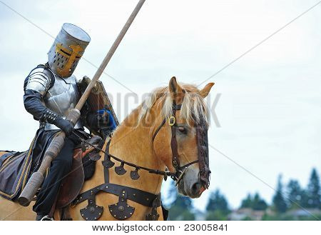 Mounted Knight prepares