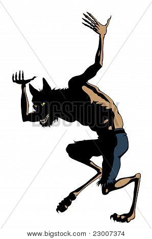 Werewolf Dances. Clip art Cartoon : Bigstock