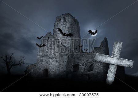 Ruin With Bats