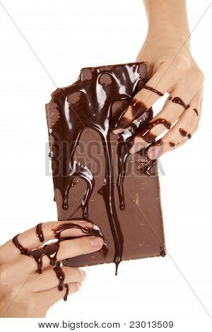Hands Covered In Chocolate