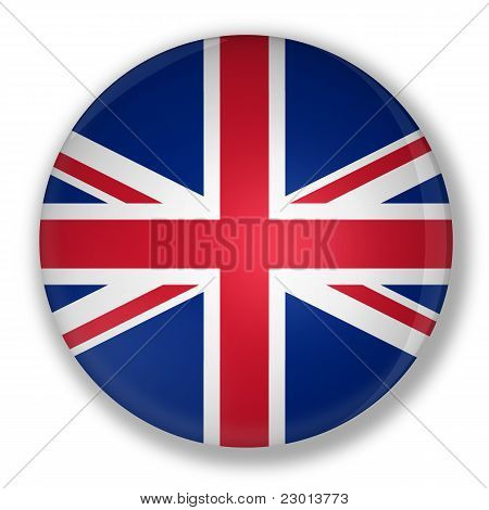 Badge With Flag Of United Kingdom Of Great Britain