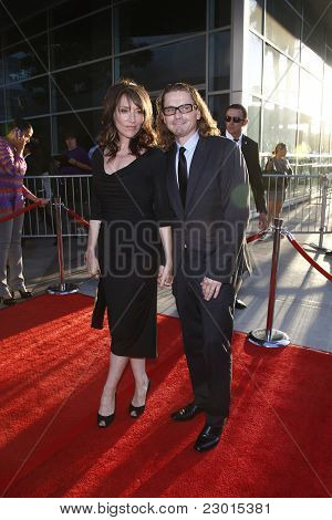 LOS ANGELES, CA - AUGUST 30: Katey Sagal; Kurt Sutter at the FX's 'Sons Of Anarchy' season 4 premiere at the ArcLight Cinemas Cinerama Dome on August 30, 2011 in Los Angeles, California