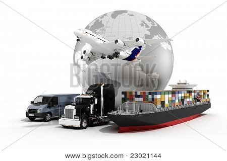 3D-global business handel concept