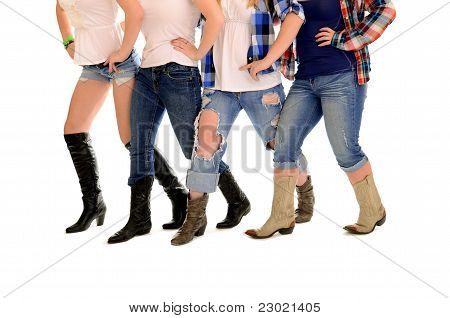 Country Women Line Dance