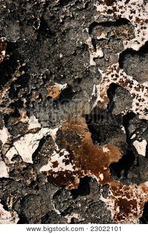 Volcanic rock close-up texture background