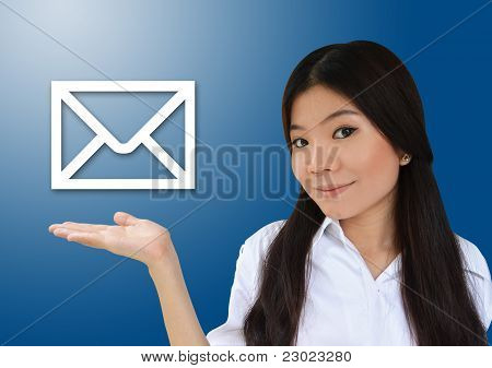Business Woman And E-mail
