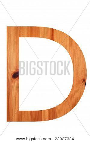 Wood Alphabet D