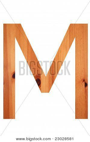 Wood Alphabet M