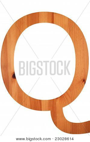 Wood Alphabet Q