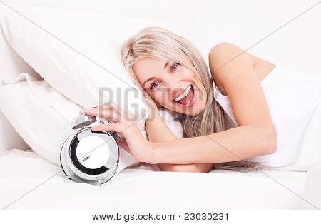 Woman Wakes Up
