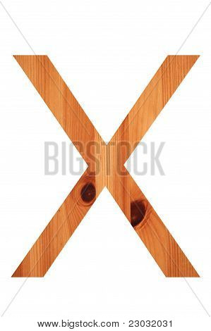 Wood Alphabet X