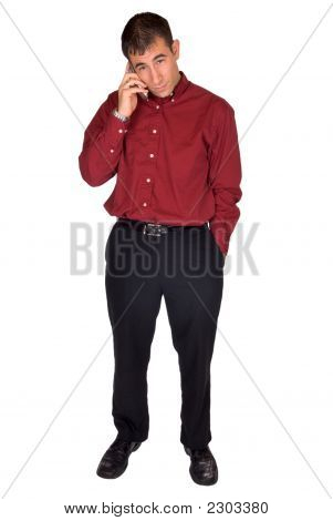 Businessman Making A Cell Phone Call