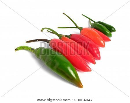 Two colors chilies group