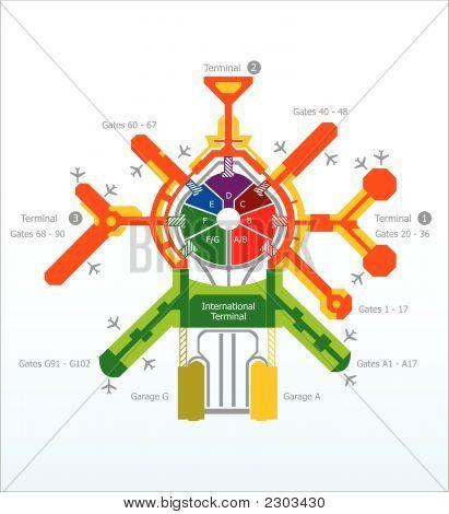 Abstract Flughafen Scheme