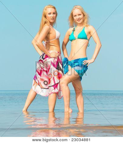 Enjoying on a Beach Beauties