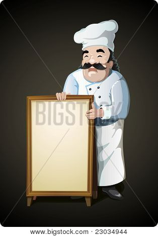 Male Chef Vector