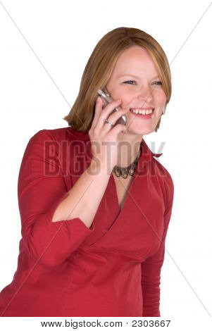 Pregnant Woman Making A Cell Phone Call