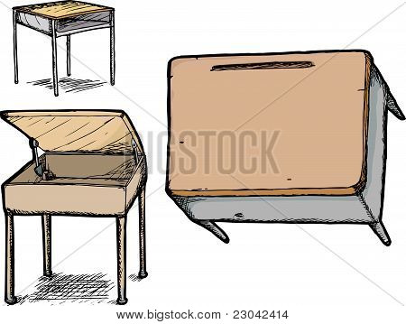 Set Of School Desks