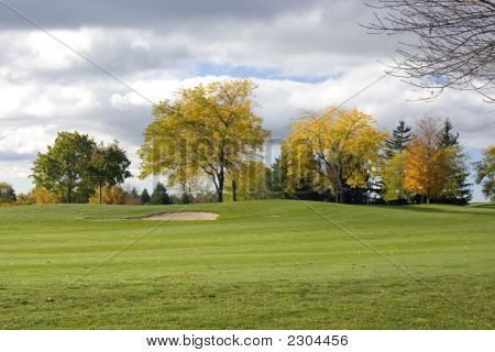 Colorfull Golf Course Bunker