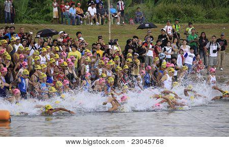 Ironman Philippines Swimming Race Start