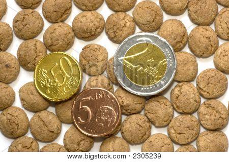 Chocolate Euros And Pepernoten