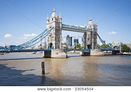 Iconic photograph of The Tower Bridge in London