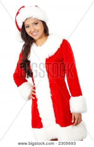 Female Christmas Santa