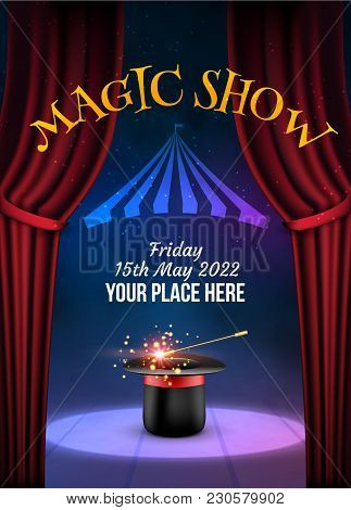 Magic Show Poster Design Template