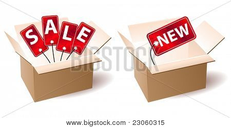 """Sale"" and ""new"" in open box"