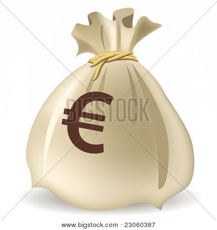 Money bag, vector