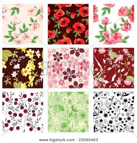 Set of vector seamless patterns. Part 2