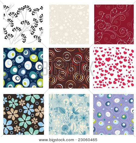 Set of vector seamless patterns. Part 6