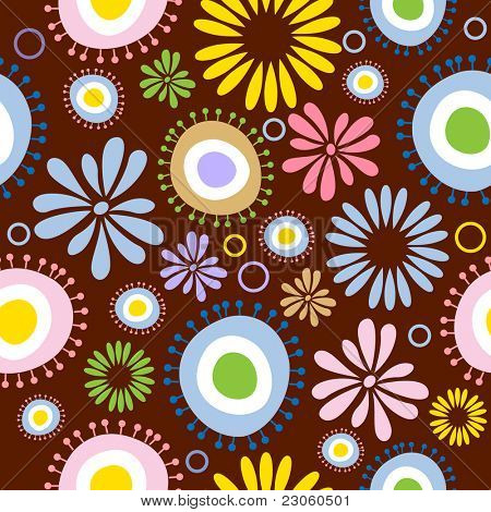 Helle floral seamless pattern