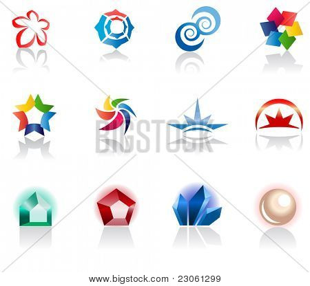 Set of different icons for your design (part 1). Please visit my gallery to see similar.