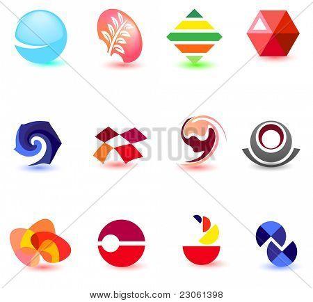 Moderne farbenfrohe Symbole für Ihr Design (Teil 2). Besuchen Sie meine Galerie zu ähnlich sehen.