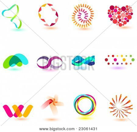Modern colorful symbols for your design (part 6). Please visit my gallery to see similar.