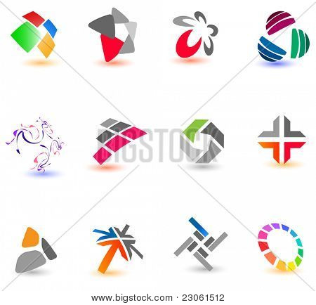 Collection of different colorful icons for your design (Part 16). Please visit my gallery to see similar.