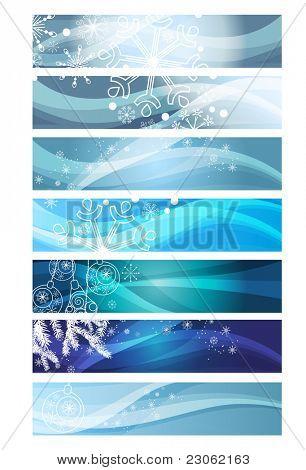 Weihnachts-Banner mit Schneeflocken