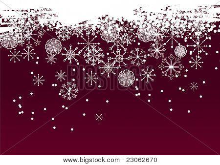 Fondo rojo del copo de nieve. Versión de la trama. Versión de vector está en mi Galería.