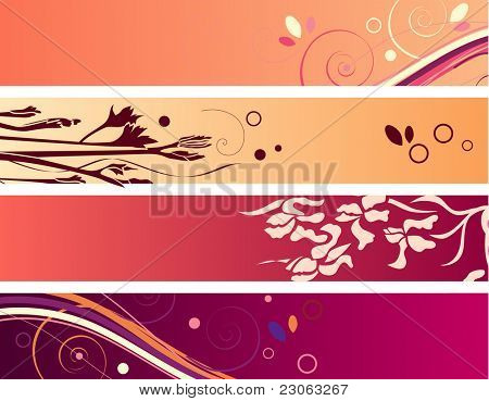 Set of colorful banners. Raster version. Vector version is in my gallery.