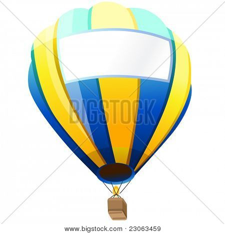 Hot Air Balloon with space for your text