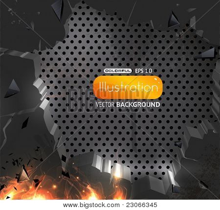 vector of abstract breaking background