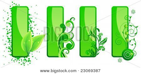 Four Floral frames. Raster version. Vector version is in my gallery.