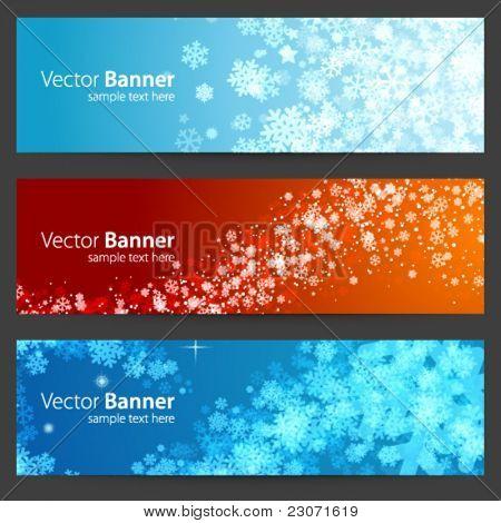 Weihnachten Feier Vektor Banner oder Header set Eps 10