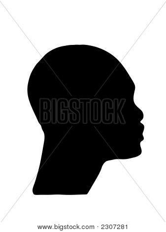 Vector Boy Face Silhouette