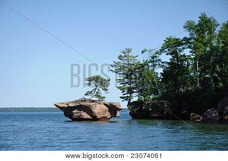 Rock Off Basswood Island Of The Apostle Islands
