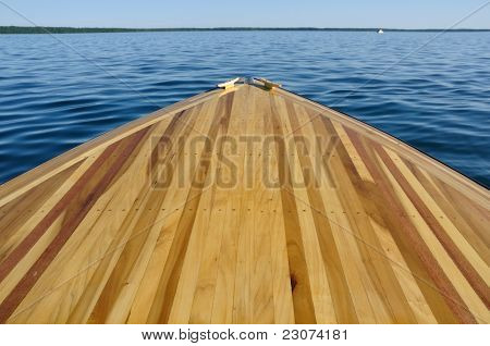 Wood Strip Bow Deck